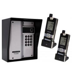 Wireless Gate Intercom with Keypad & 2 x Handsets (UltraCom2) Silver & Black Hood