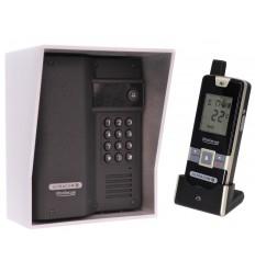 Wireless Gate & Door Intercom with Keypad (UltraCom2) Black & Silver Hood