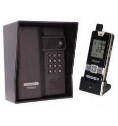 Wireless Gate & Door Intercom with Keypad (UltraCom2) Black & Black Hood