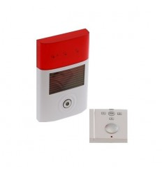 BT Magnetic Door & Solar Charged Wireless Siren Alarm System