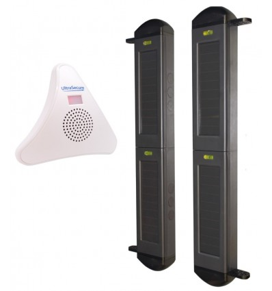 2B Solar Wireless Perimeter Beam Alarm with Chime Receiver