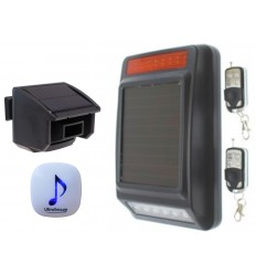 DA600 Wireless Garden & Driveway Alarm with Solar Siren
