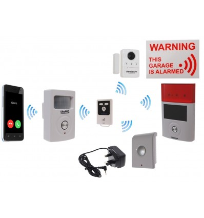 Mains powered 3G UltraPIR GSM Garage Alarm