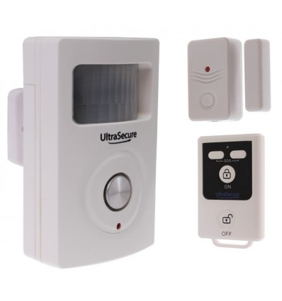 BT PIR & Magnetic Door/Window Contact Alarm with Remote Control