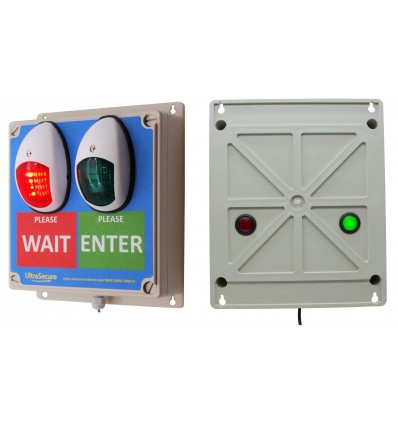 Green & Red Wireless Door Entry Lights for Shops & Retail