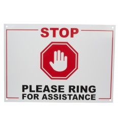 A4 'Please Ring For Assistance' Warning Sign
