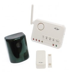 Wireless XL Alarm System, including an External PIR, Magnetic Contact & 4 Channel Receiver.