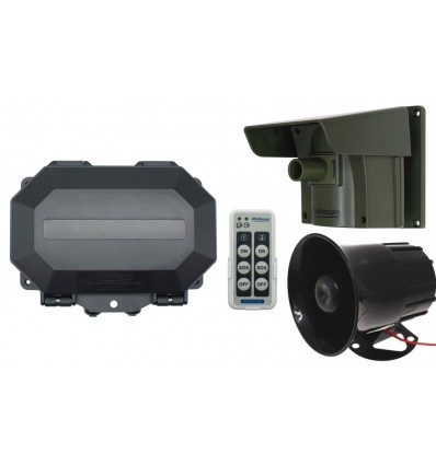 Long Range Wireless Driveway PIR Alarm with Outdoor Receiver & Loud Siren