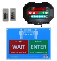 Wireless Entry Traffic Light Kit C with Wall Sign