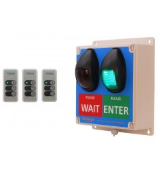 Large Wireless Customer Entry Traffic Light Kit F with 3 x Intelligent Portable Controllers