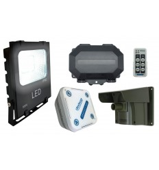Floodlight Wireless Driveway PIR Alarm with Outdoor & Indoor Receivers