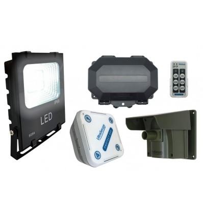 Floodlight Wireless Driveway PIR Alarm with Outdoor & Indoor Receivers