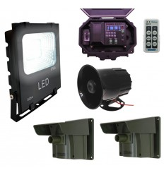 Floodlight & Siren Long Range Wireless Driveway PIR Alarm