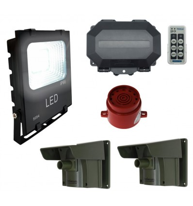 Floodlight & Adjustable Siren Long Range Wireless Driveway PIR Alarm