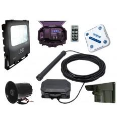 Floodlight & Siren Wireless Driveway PIR, Probe Alarm & Indoor Chime Receiver