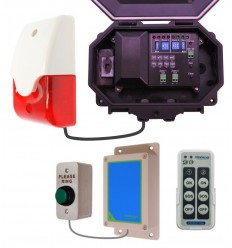 Wireless Commercial Doorbell with Siren & Strobe