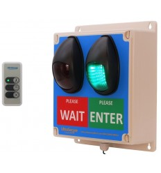 Battery powered Wireless Customer Entry Traffic Light Kit with Intelligent Controller & Rechargeable Battery Pack