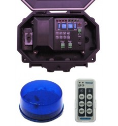 Protect 800 Outdoor Wireless Receiver with Blue Flashing Strobe Light