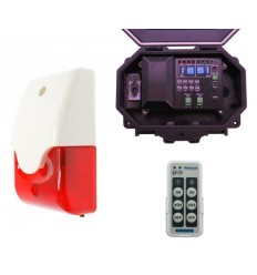 Protect 800 Outdoor Wireless Receiver with Siren & Flashing Strobe Light