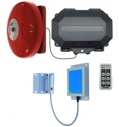 Wireless Magnetic Gate Alarm with Loud Weatherproof Bell
