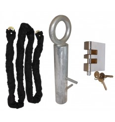 2 metre Long Steel Chain Kit with Spigot Ground Anchor