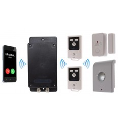 UltraDIAL Battery Covert GSM Alarm with 1 x Magnetic Contact & Indoor Wireless Siren