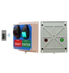 Wireless Customer Flow Entry Lights with additional rear Facing LED's  & Intelligent Portable Controller