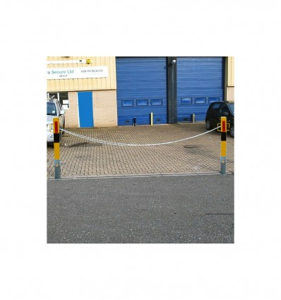 2 x Heavy Duty 140Y Removable Security Posts & Chain Kit (001-4160).