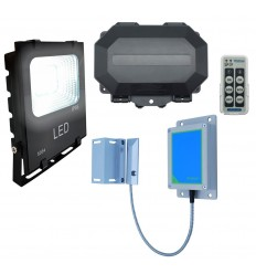 Wireless Silent Gate Opening Alarm with Security Floodlight