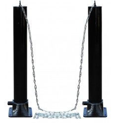 BLACK LARGE FOLD DOWN SECURITY POST & CHAIN KIT