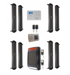 Complete 2B-100 Wireless Perimeter Alarm with 3G GSM Auto-Dialler & Solar Siren