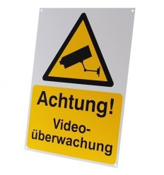 German A4 External CCTV Warning Sign