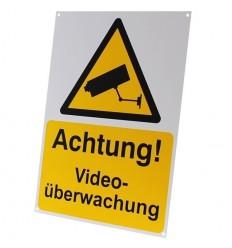 German A4 External CCTV Warning Sign