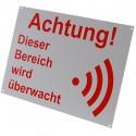 German A4 External Alarm Warning Sign