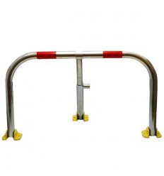 Galvanised Fold Down Hoop Barrier & Integral Lock (Red Band)