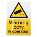 A5 External CCTV Warning Sign (English Language)