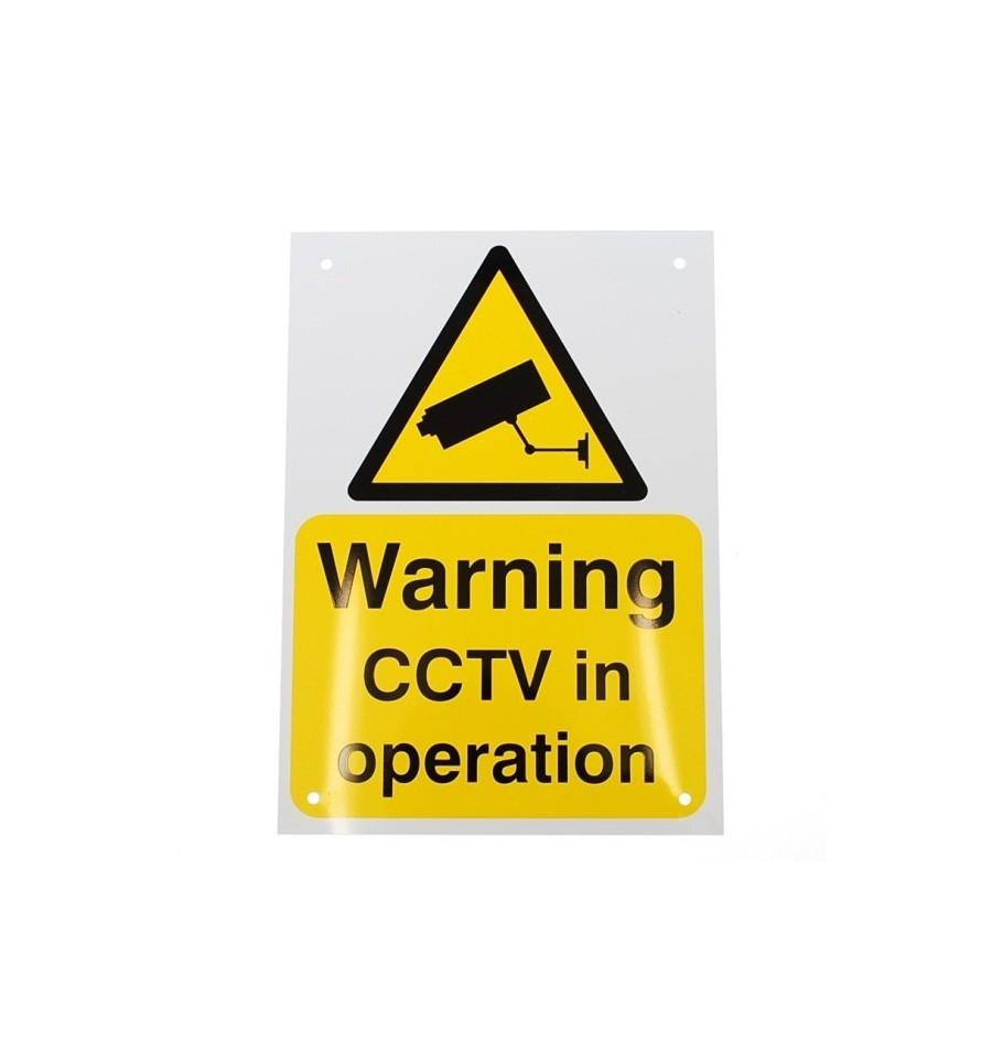 A4 External Cctv Warning Sign English Language