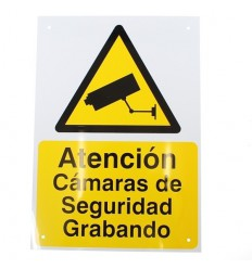Spanish A4 External CCTV Warning Sign