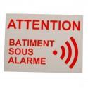 French Alarm Warning Window Sticker