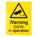 CCTV Warning Window Window Sticker (English language)