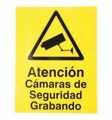 CCTV Warning Window Window Sticker (Spanish language)