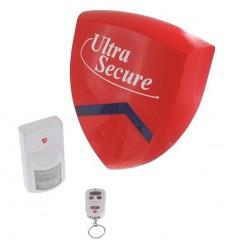 PIR & Battery Smart Alarm Siren & Flashing Strobe System.