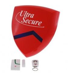 External Magnetic Contact & Battery Smart Alarm Siren & Flashing Strobe.