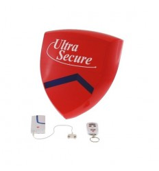 Water & Flood Sensor & Battery Smart Alarm Siren & Flashing Strobe.