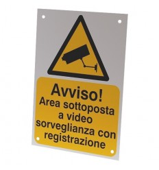 Italian A5 External CCTV Warning Sign