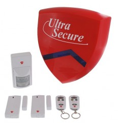 Battery Smart Alarm Siren & Flashing Strobe BC Alarm System