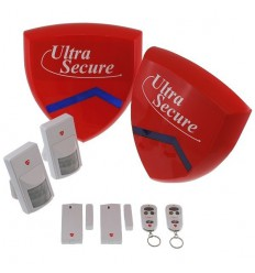 Delux Battery Smart Alarm Siren & Flashing Strobe Alarm System
