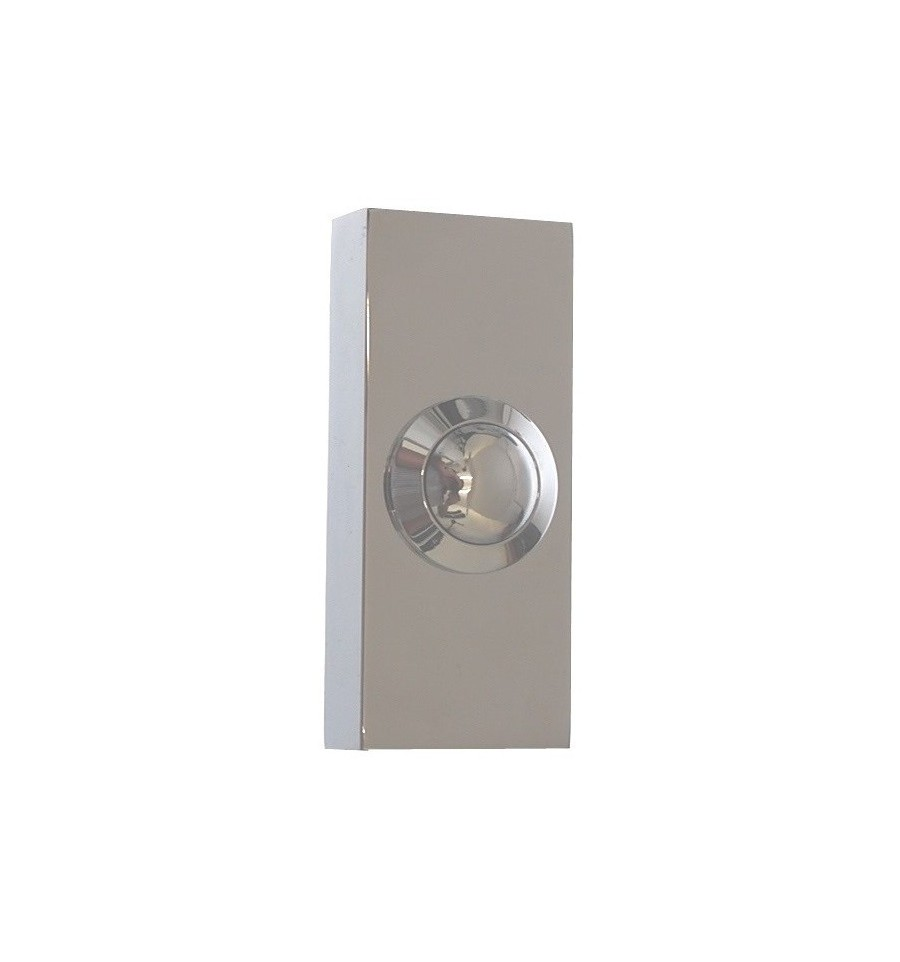 Long range wireless doorbell chrome push button 800 for Door bell push
