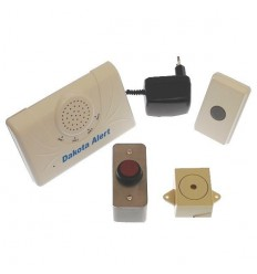 Long Range Wireless Bell, Siren & Heavy Duty Red Push Button.