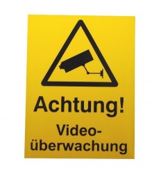 German CCTV Warning Window Sticker